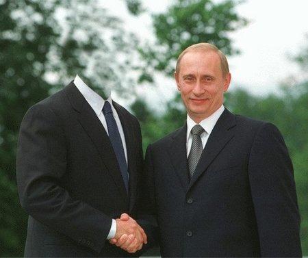 C кем здороваеться Путин? см. дальше