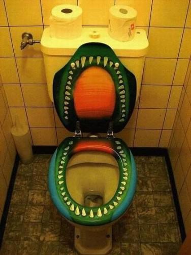 прикольный туалет