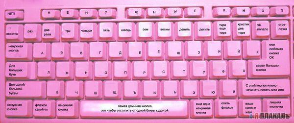 Клавиатура для блондинок...