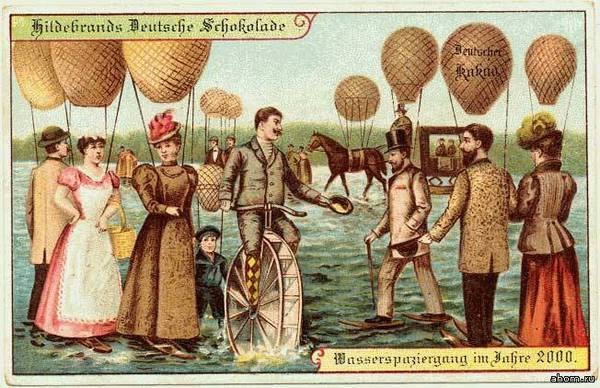 Как представляли себе 21-й век в 1900-м году. Открытки из Германии